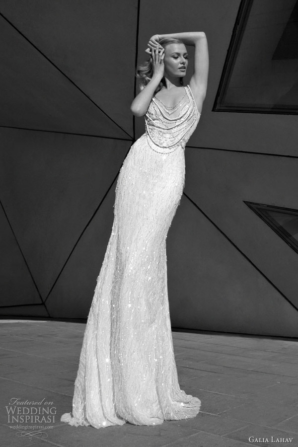 galia lahav bridal 2012 glamourous wedding dresses beade neckline