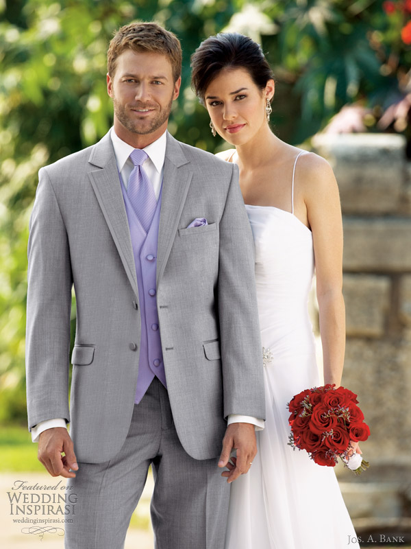 jos a bank mens wedding suits tuxedo rental grey savoy 332 2 button
