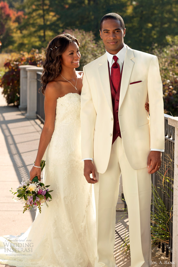 jos a bank wedding tuxedo rental mens bridal suit troy 2 button white cream
