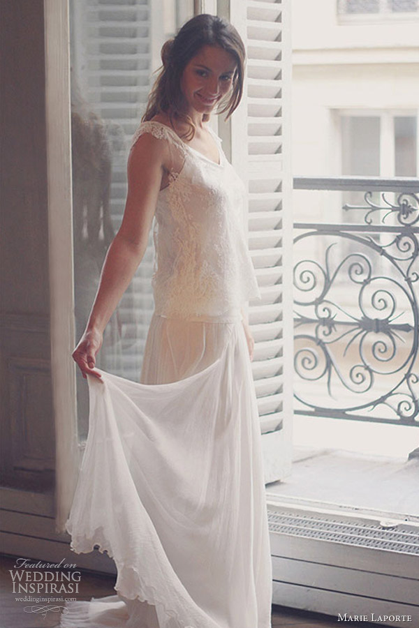 marie laporte 2013 suzie romantic wedding dress straps