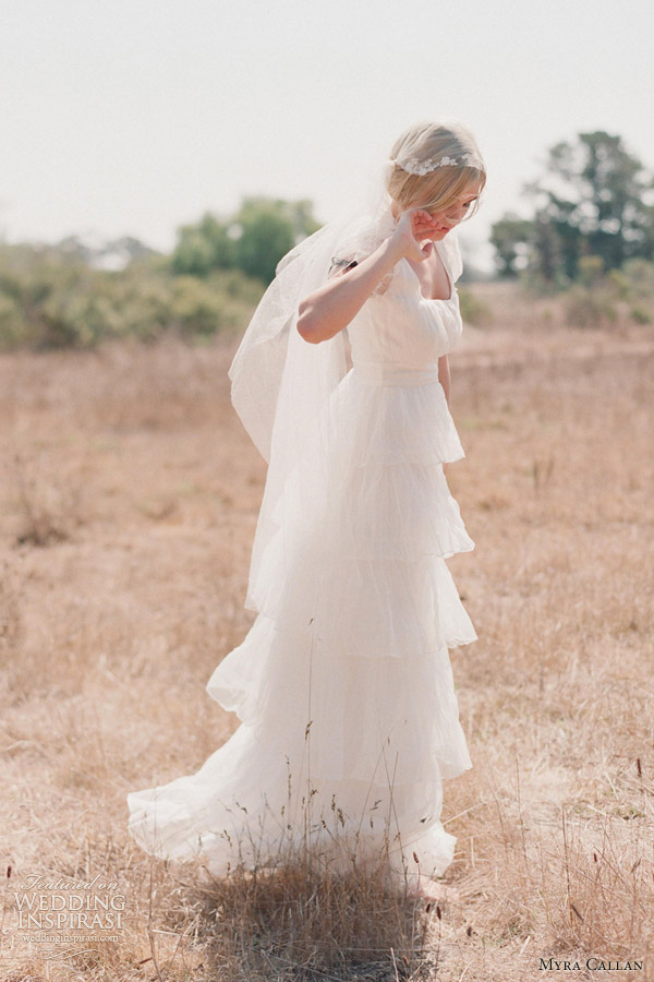 myra callan twigs honey wedding dresses 2013 viola tiered gown