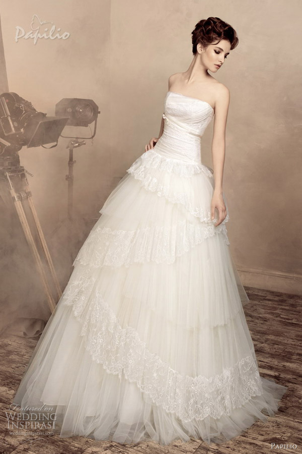 papilio bridal 2013 elisabeth strapless wedding dress