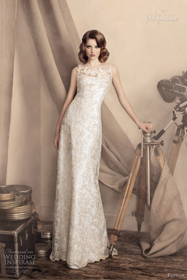 papilio wedding dress 2013 marina sheath gown