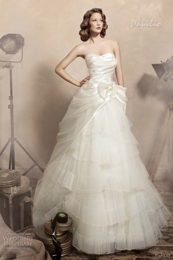 papilio wedding dresses 2013 julietta strapless ball gown
