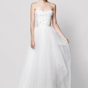 reem acra wedding dresses nordstrom coral bells strapless sweetheart