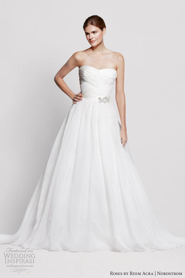roses by reem acra nordstrom wedding dresses holly strapless