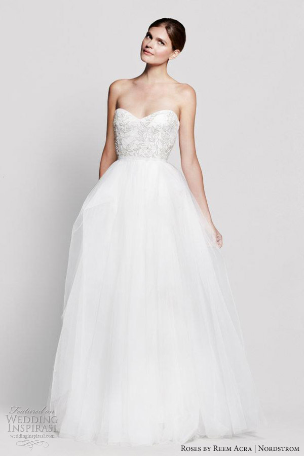 roses reem acra ivy wedding dress strapless gown
