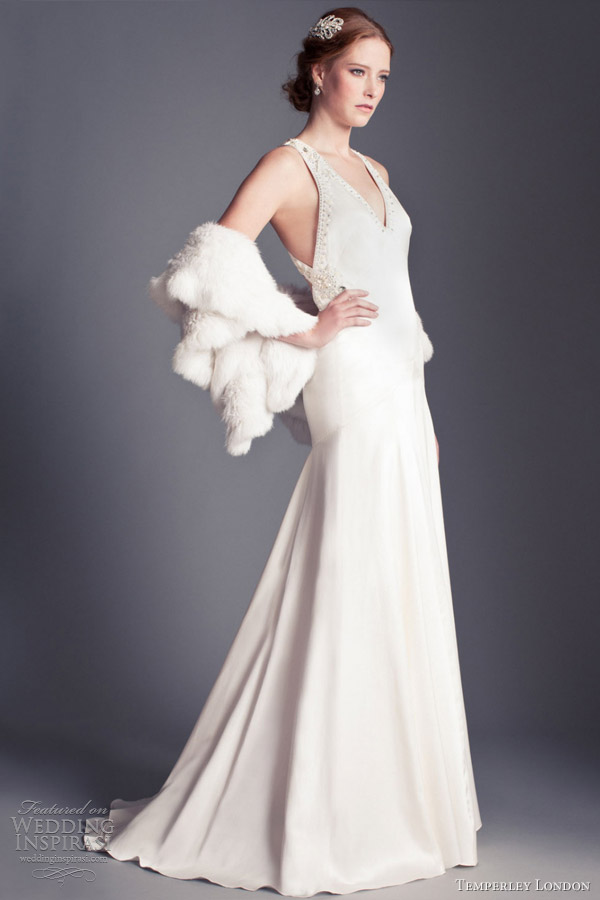 temperley london 2013 bridal collection sylvia v neck backless gown
