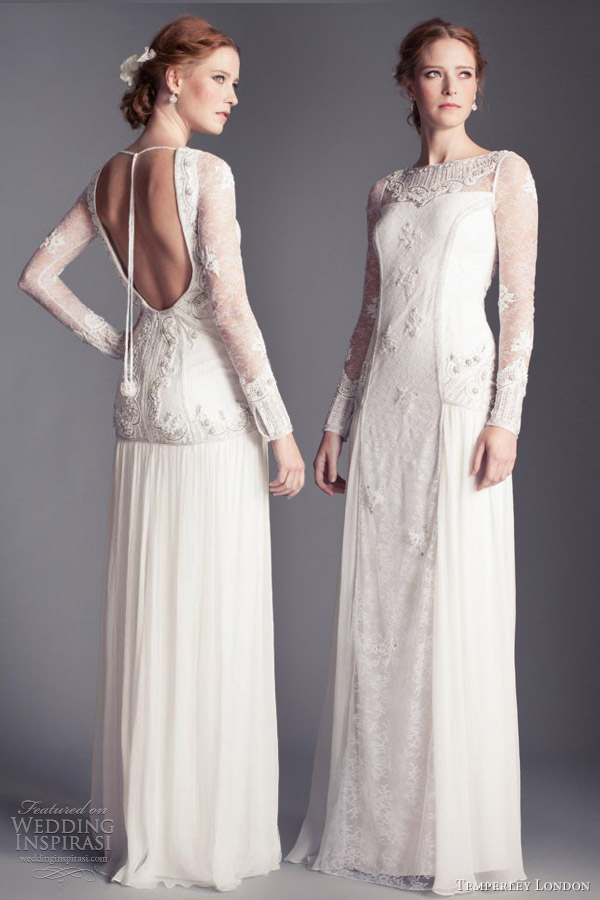 temperley london 2013 bridal viva long sleeve lace weddind dress