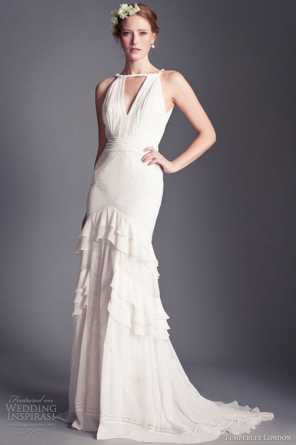 temperley london bridal florence 2013 marguerite halter gown ruffle skirt