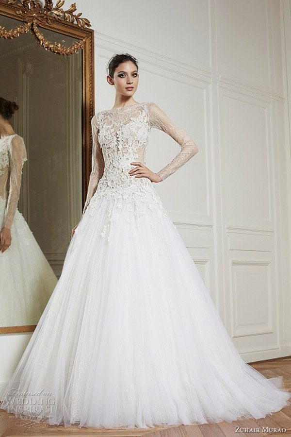 zuhair murad bridal 2013 ready to wear ballerina long sleeve wedding dress