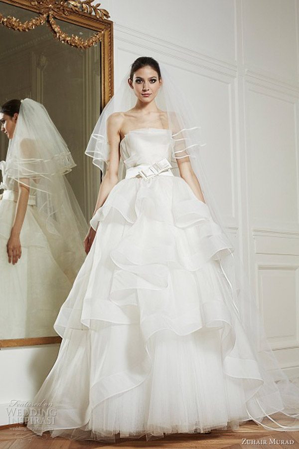 zuhair murad wedding dresses bridal fall 2013 sophie strapless ball gown