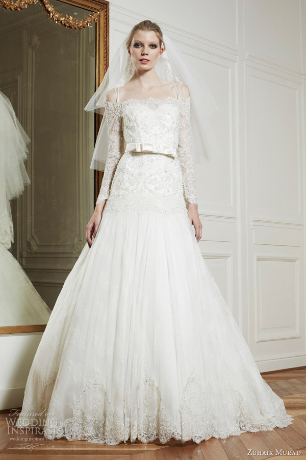 zuhair murad wedding dresses fall 2013 isabelle sleeves