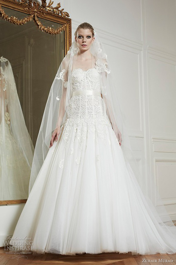zuhair murad wedding dresses fall winter 2013 barbara drop waist gown