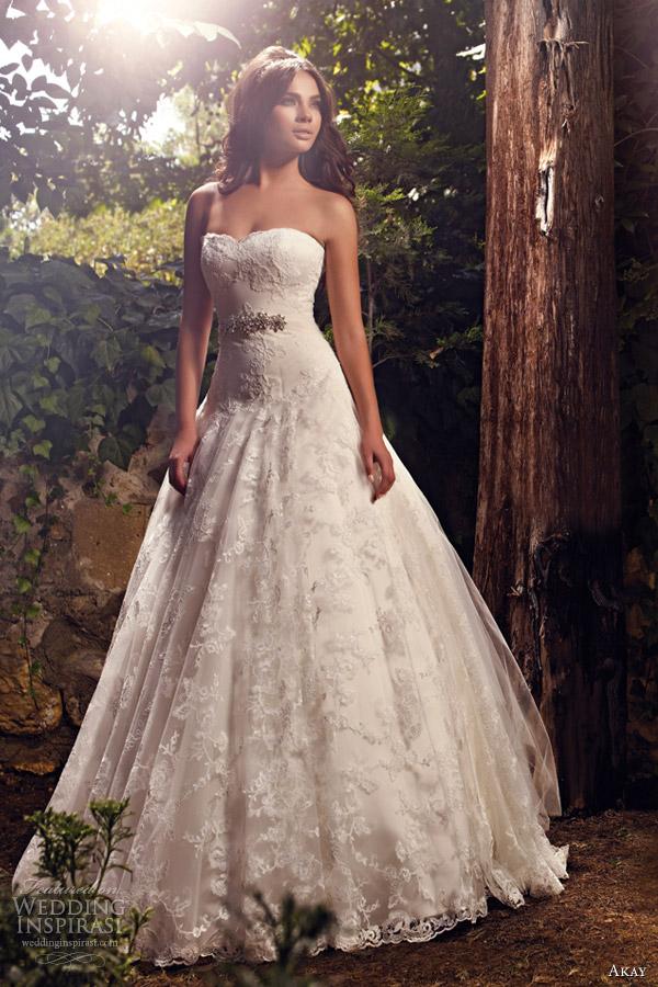 Akay wedding dresses 2013 wedding inspirasi for Lace drop waist wedding dress