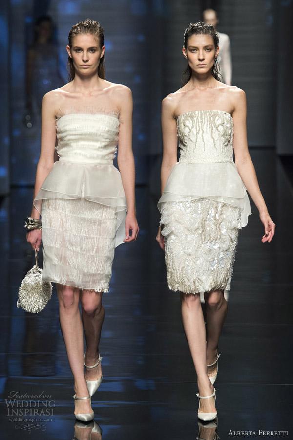 alberta ferretti spring 2013 rtw short peplum dresses