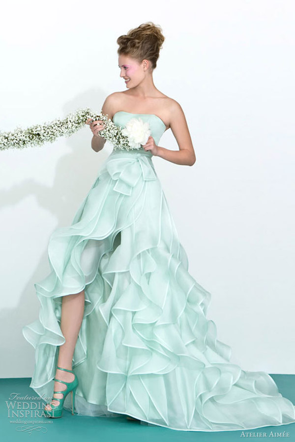 atelier aimee 2013 mint green color wedding dresses