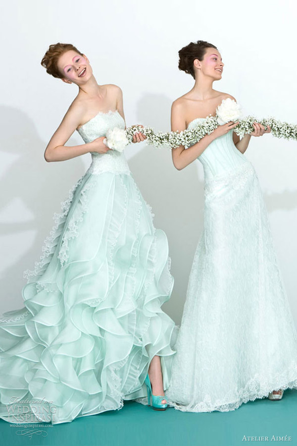 atelier aimee 2013 mint green wedding dresses
