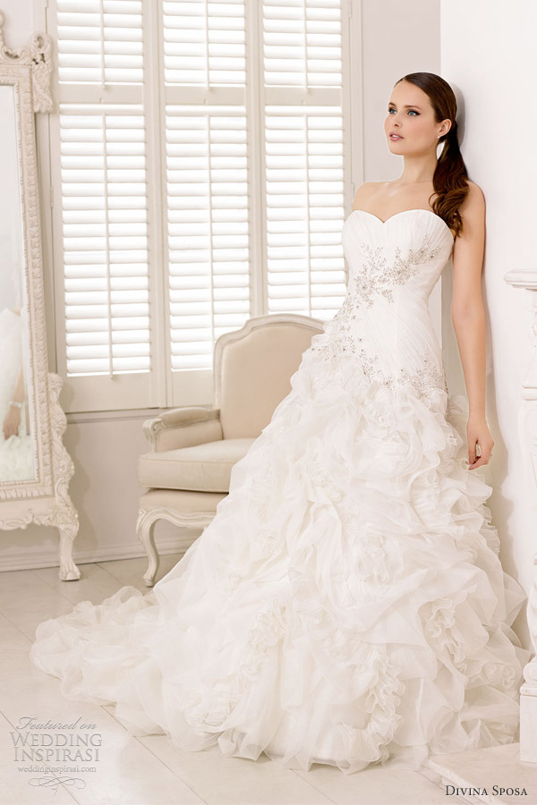 divina sposa wedding dresses 2013 strapless ruffle gown