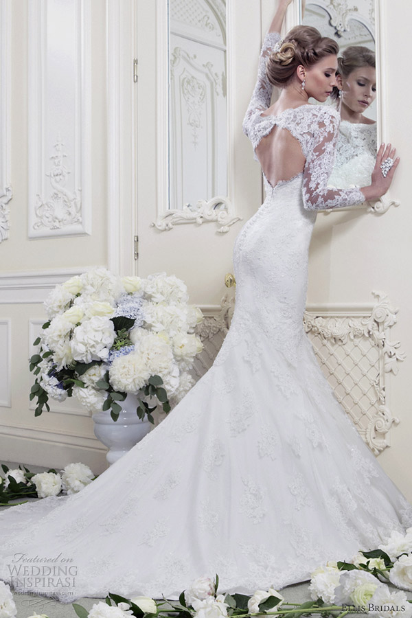 ellis bridals 2013 long sleeve wedding dress 11368
