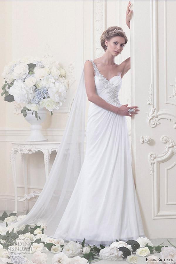 ellis bridals 2013 one shoulder chiffon gown 11345
