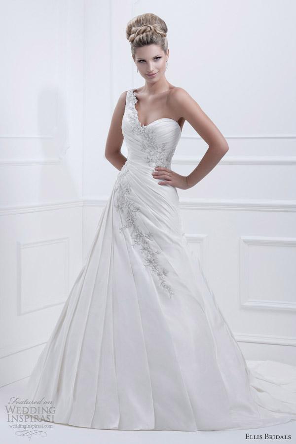 ellis bridals 2013 one shoulder wedding dress 11356