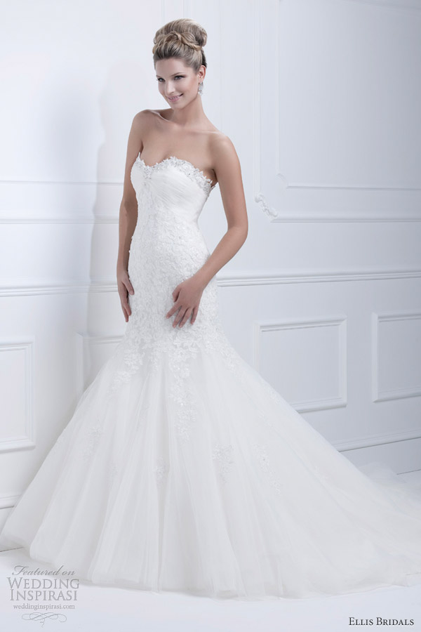 ellis bridals 2013 strapless mermaid wedding dress 11363