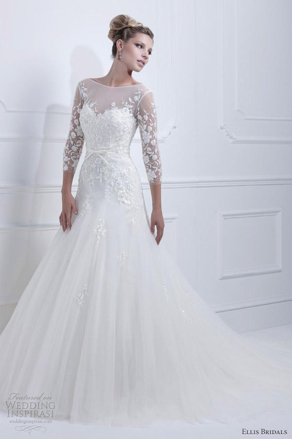 Ellis Bridals 2017 Wedding Dress Sleeves 11350