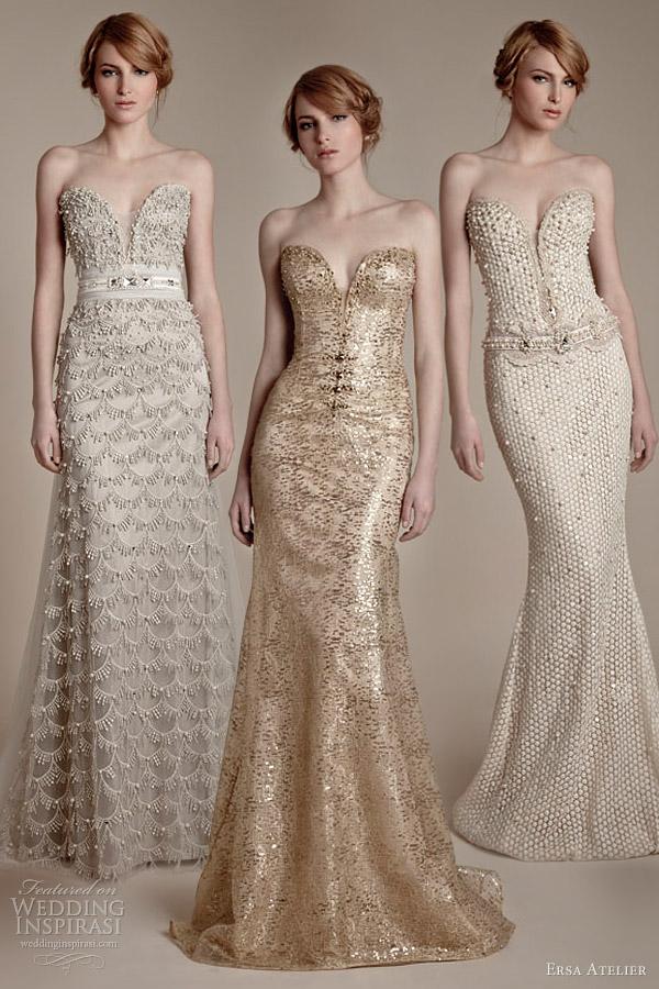 ersa atelier 2013 bridal fashion strapless sheath wedding dresses