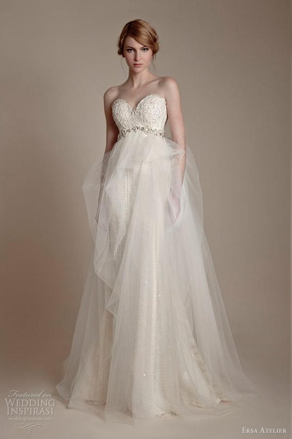 ersa atelier bridal 2013 strapless sweetheart wedding dress tulle skirt