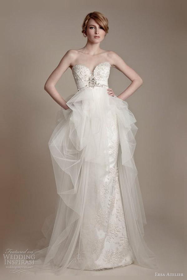 ersa atelier wedding dresses 2013 strapless tulle gown