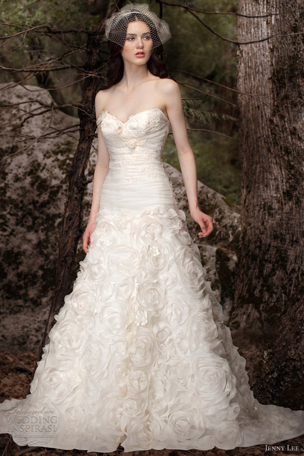 jenny lee bridal spring 2013 strapless sweetheart gown 1308