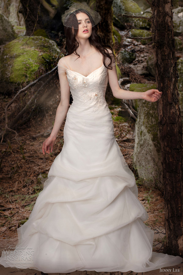 jenny lee bridal wedding dresses spring 2013 cap sleeve gown