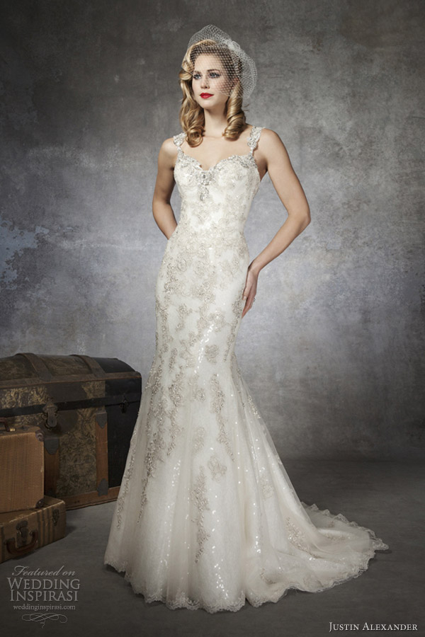 justin alexander bridal 2013 silver gold wedding dress style 8652