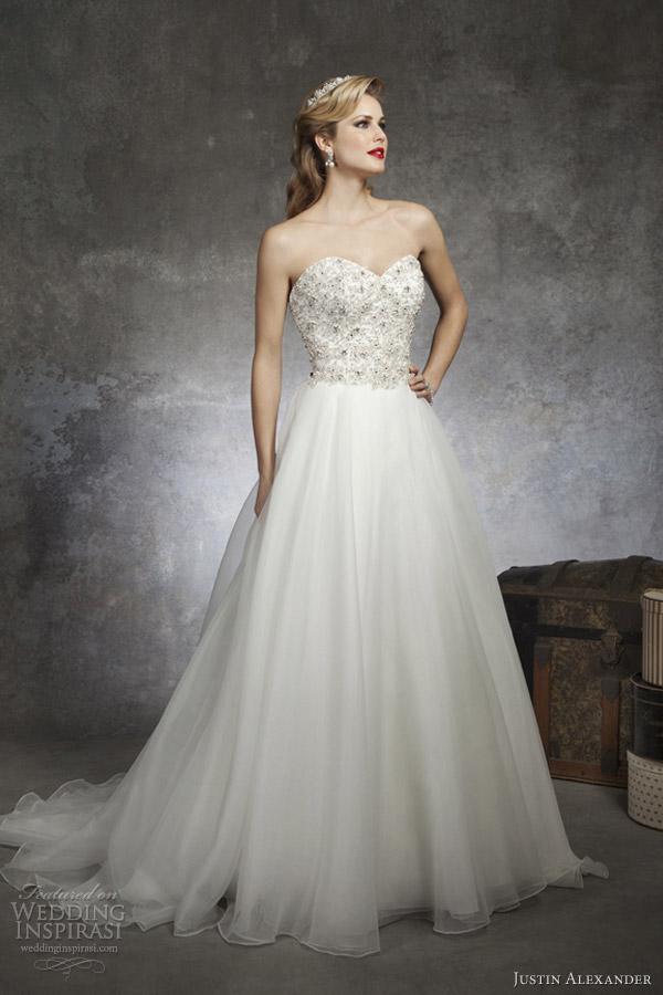 justin alexander spring 2013 strapless wedding dress style 8670