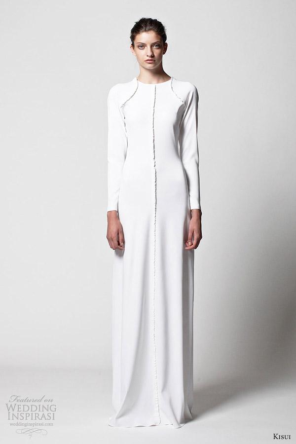 kisui bridal 2013 rhea long sleeve wedding dress