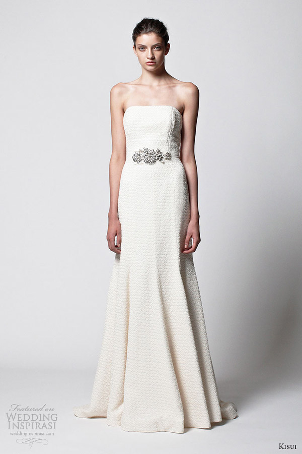 kisui bridal 2013 runa wedding dress embellished waist