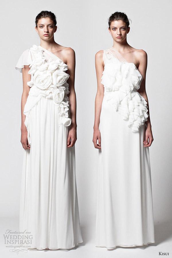 kisui one shoulder wedding dresses 2013 aulalia aruna bridal gowns