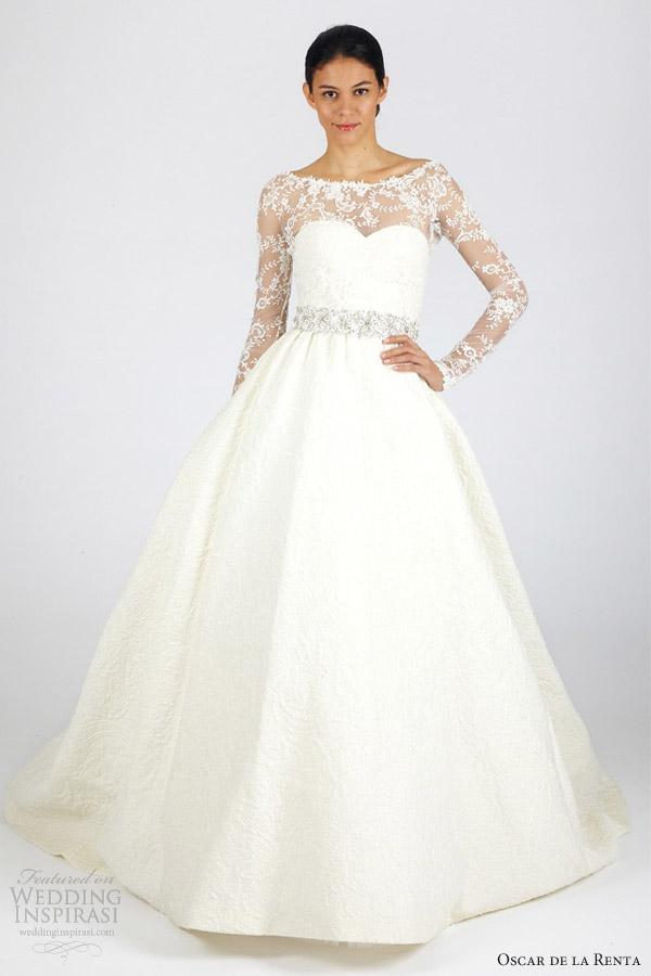 Oscar de la renta bridal fall 2013 wedding dresses for Oscar de la renta lace wedding dress