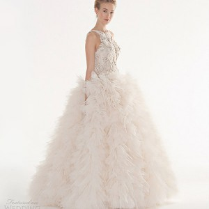 peter langner couture wedding dresses 2013 follia sleeveless ball gown