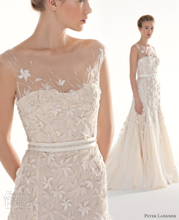 peter langner couture wedding dresses 2013 pathos illusion straps