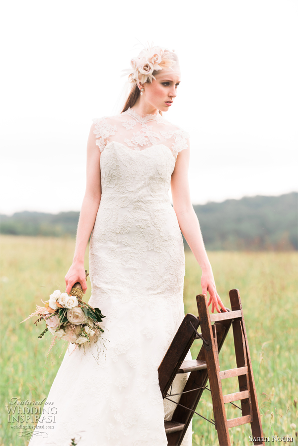 sareh nouri wedding dress spring 2013 lace sheath emma