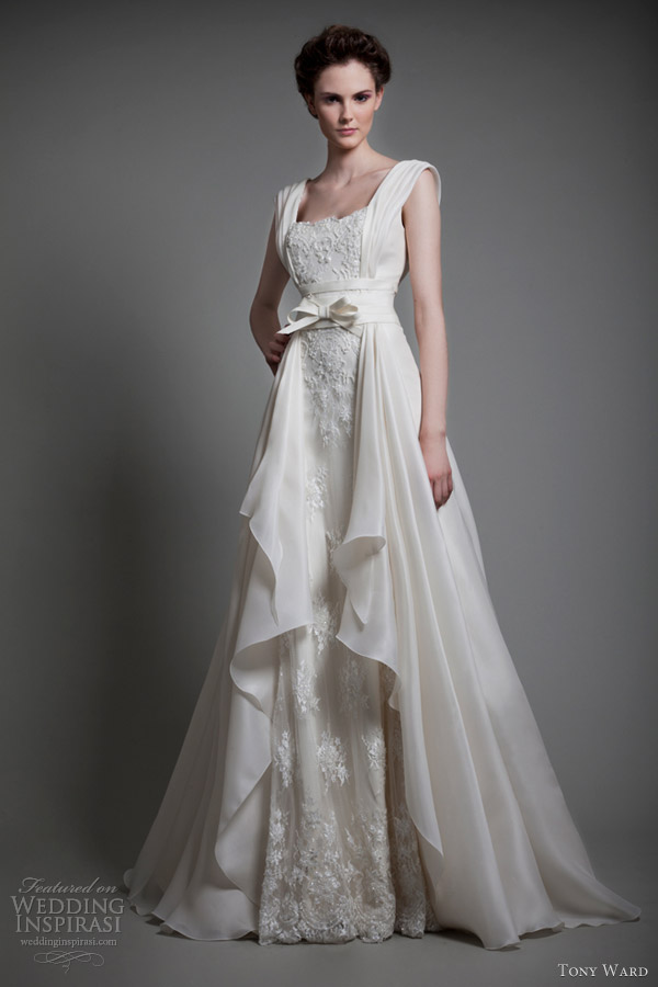 tony ward bridal 2013 parfum d ete sleeveless wedding dress