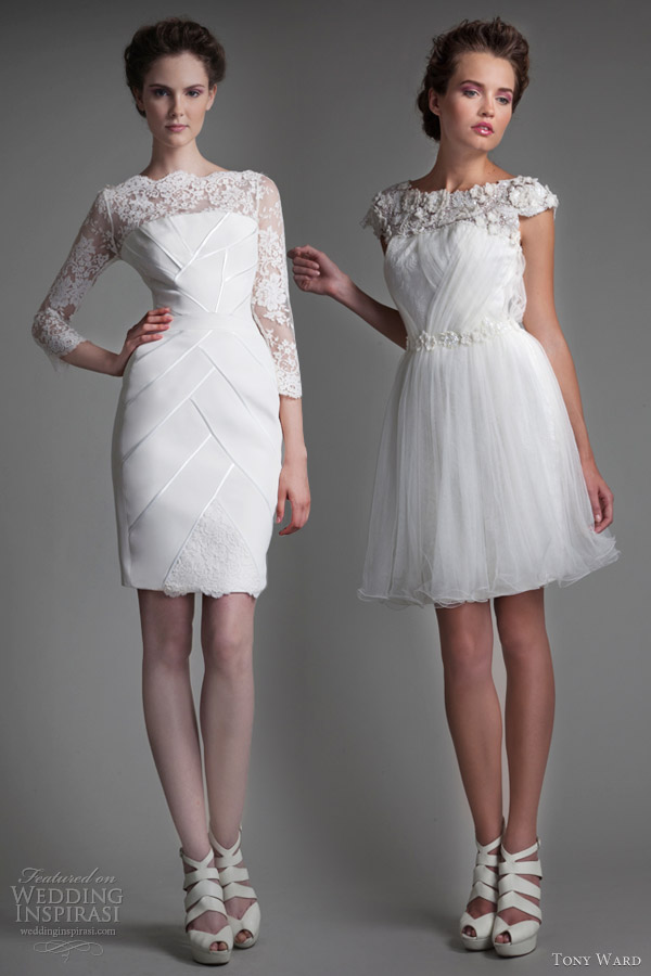 tony ward bridal 2013 short wedding dresses