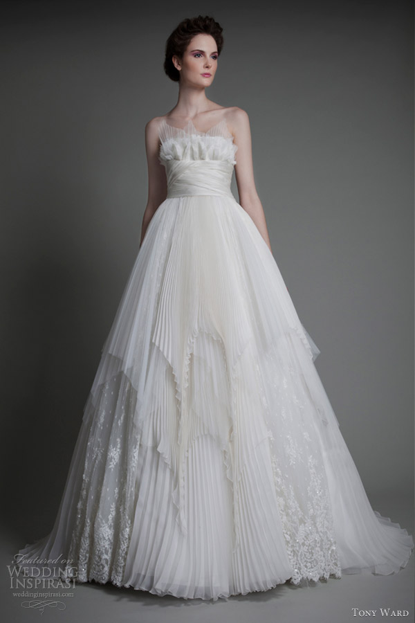tony ward wedding dresses 2013 aura magique strapless ball gown