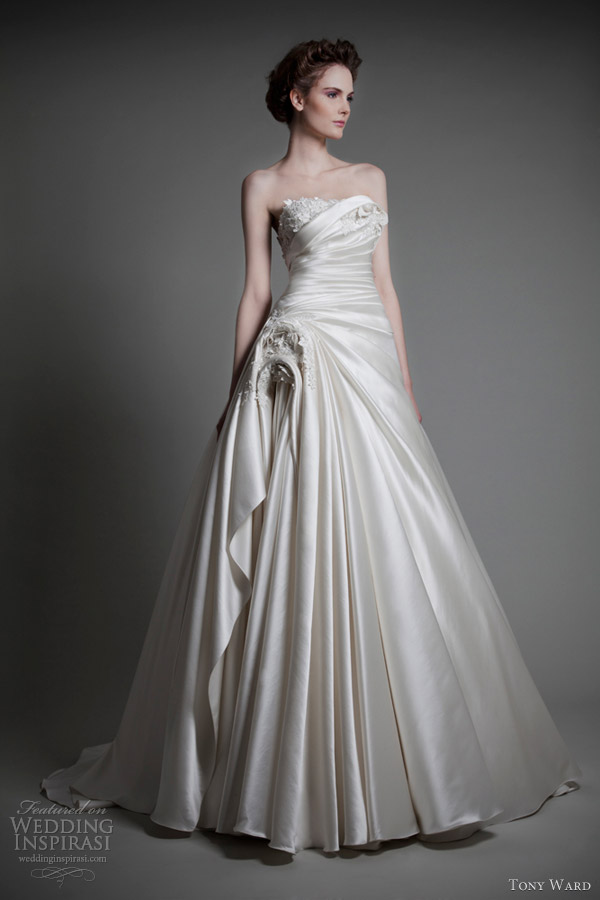 tony ward wedding dresses 2013 bridal absolu strapless ball gown