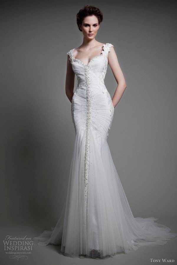 tony ward wedding dresses 2013 jardin de delices sleeveless mermaid gown