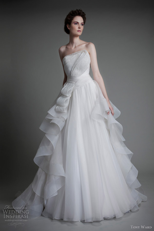 tony ward wedding dresses 2013 roses de neige gown