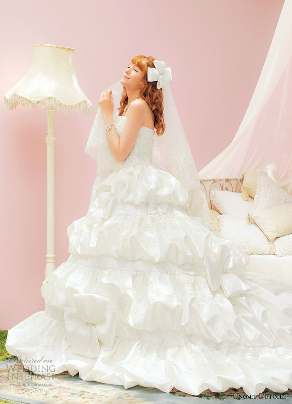 uno et l etoile 2013 romantic sweet white wedding dress