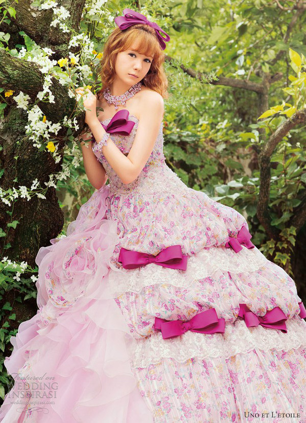 uno et l etoile pink wedding dress 2013 reina triendl
